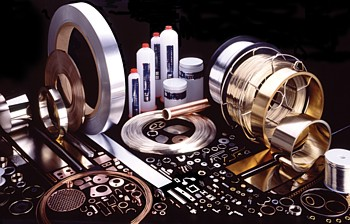 Examples of brazing alloy preforms in ring, strip, washer, etc