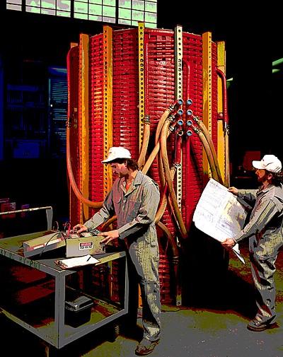 orange coreless induction coil
