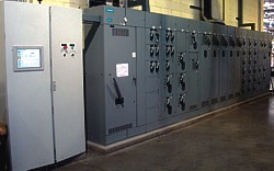Motor Control Center (MCC) for an aluminum chip processing system
