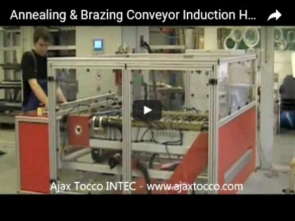 Conveyor Annealing & Brazing Induction Heating Machine