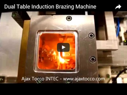 Dual Table Induction Brazing Machine
