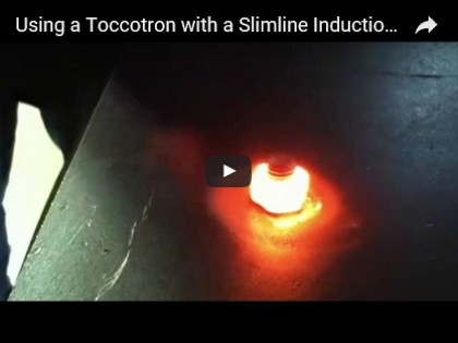 Using a Toccotron with a Slimline Induction Nut Heater