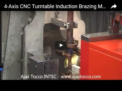 Turntable 4-Axis CNC Induction Brazing Machine
