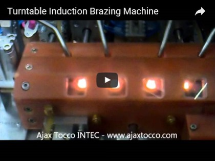 Turntable Induction Brazing Machine